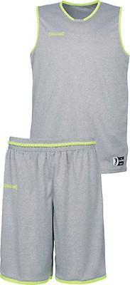 8e7701c9f32a TEAMWEAR - Spalding Youth Men s MOVE Basketball Kit - Dark Grey Melange   Fluo Yellow