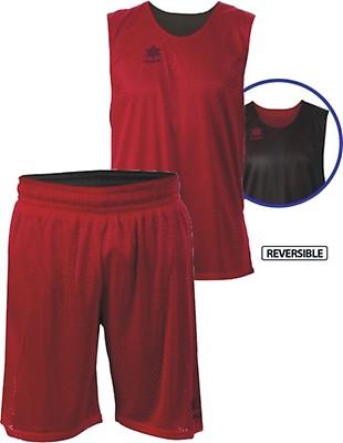 67381cf75e7d TEAMWEAR - Luanvi Unisex All Triple Reversible Basketball Kit - Red Black