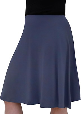 0b9c4de93f6f Navy Modest Kids Big Girl s Knee Length Full A-Line Skater Skirt - US