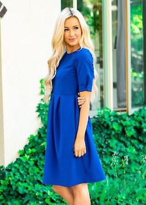 8bd208f511bb Elegant Rose Modest Dress with Pockets