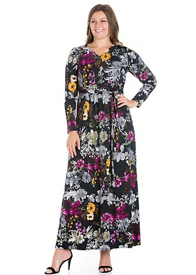 f88c2068071a 24seven Comfort Apparel Simply Stylish Women's Long Sleeve Maxi ...
