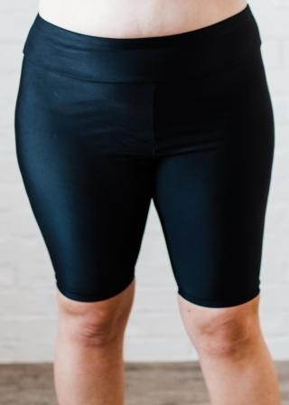 Plus Size Long Bike Swim Shorts