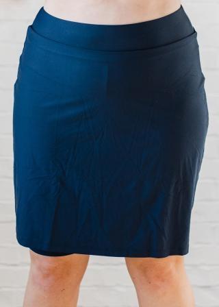 Plus Size Knee Length Swim Skort