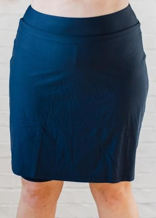 Plus Size Knee Length Swim Skort