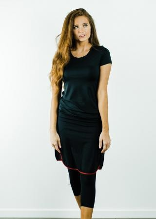"Performance Tee with Knee Length Sport Skirt With Attached 17"" Leggings - Sport Set"
