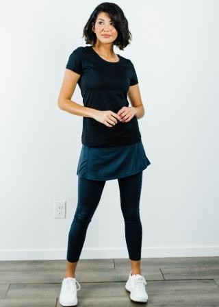"""Performance Tee With Short Sport Skirt With Attached 27"""" Leggings - Sport Set"""
