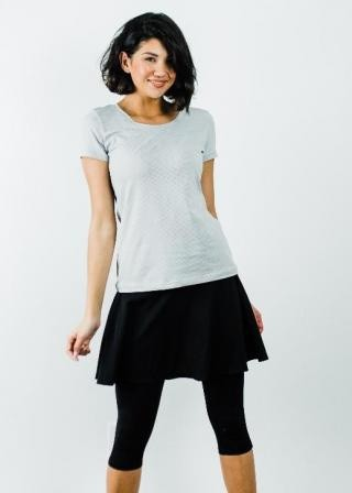 """Performance Tee With Flowy Sport Skirt With Attached 17"""" Leggings - Sport Set"""