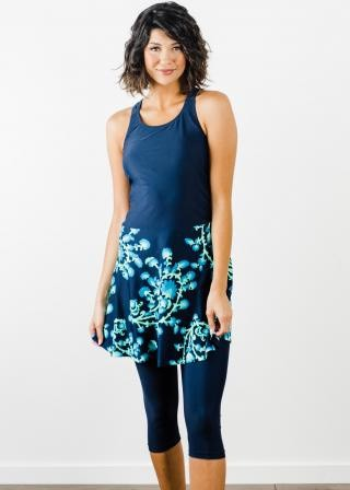 Emily Swim Dress With Capri Swim Leggings