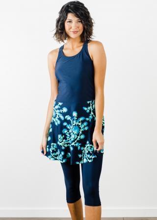 Emily Swim Dress With Capri Swim Leggings