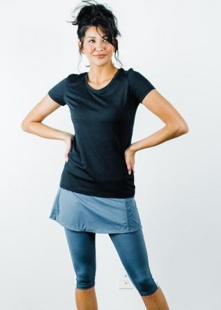 """Performance Tee With Short Sport Skirt With Attached 17"""" Leggings - Sport Set"""