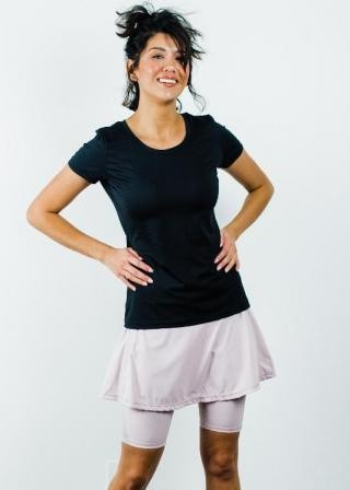 """Performance Tee With Midi Sport Skirt With Attached 10"""" Leggings - Sport Set"""