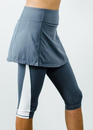 "Short Sport Skirt With Attached 17"" Leggings"