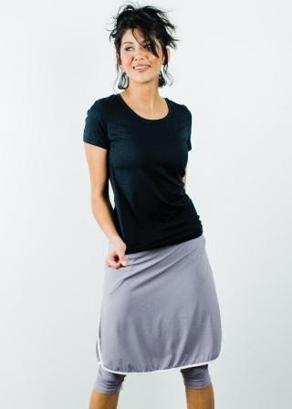 "Performance Tee With Knee Length Sport Skirt With Attached 17"" Leggings"