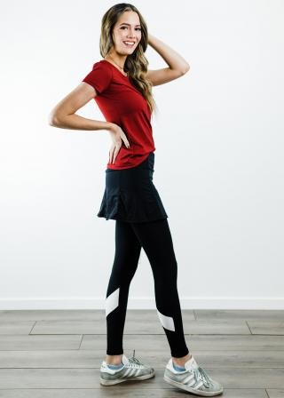 "Performance Tee With Short Sport Skirt With Attached 27"" Leggings - Sport Set"
