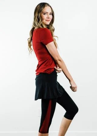 "Performance Tee With Short Sport Skirt With Attached 17"" Leggings - Sport Set"