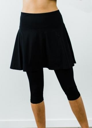 "Flowy Sport Skirt With Attached 17"" Leggings"