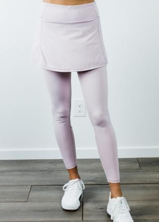 "Short Sport Skirt With Attached 27"" Leggings"