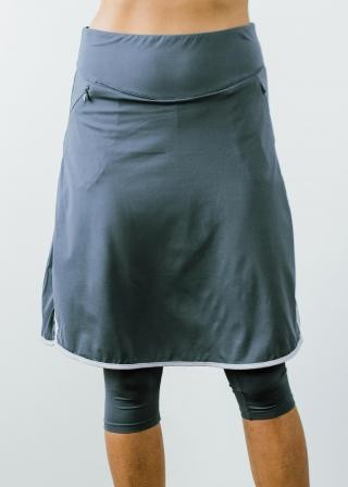"Knee Length Sport Skirt With Attached 17"" Leggings"