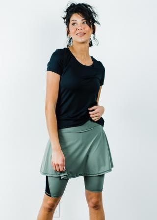 "Performance Tee With Midi Sport Skirt With Attached 10"" Leggings - Sport Set"