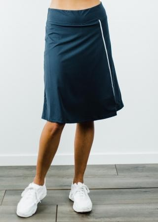 """Knee Length Sport Skirt With Attached 10"""" Leggings"""