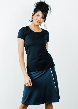 "Performance Tee With Knee Length Sport Skirt With Attached 10"" Leggings"