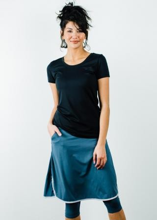 """Performance Tee With Knee Length Sport Skirt With Attached 17"""" Leggings"""