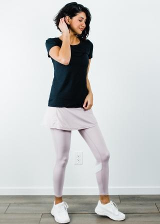 "Performance Tee With Short Sport Skirt With Attached 27"" Leggings"
