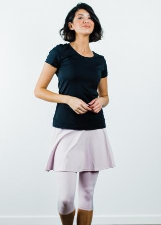"Performance Tee With Flowy Sport Skirt With Attached 17"" Leggings"