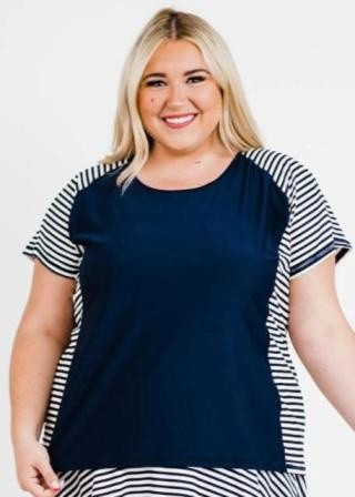Plus Size Loose Fit Adele Swim Top