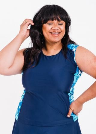 Plus Size Loose Fit Maya Swim Top