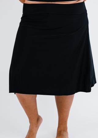 Plus Size Long Swim Skort
