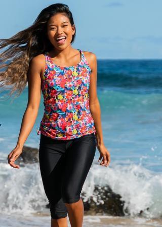 Maya Swim Top With Capri Swim Leggings
