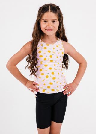 Girl's Abby Swim Top With Long Bike Swim Shorts
