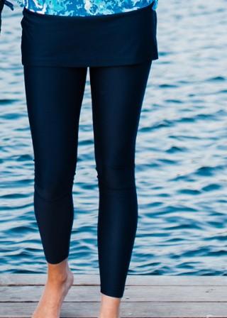 Skirted Long Swim Leggings
