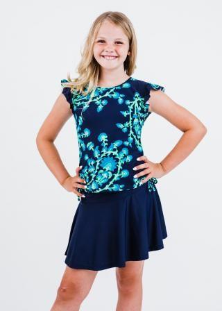 Girl's Chloe Swim Top With Short Swim Skort