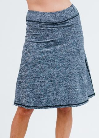 """Knee Length Lycra® Sport Skirt With Attached 10"""" Leggings"""