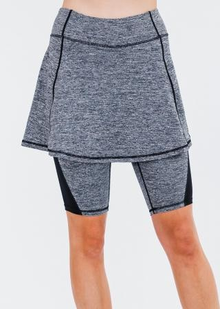 """Midi Lycra Sport Skirt With Attached 10"""" Leggings"""