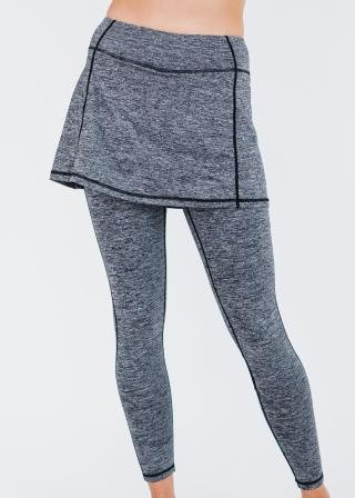 """Short Lycra Sport Skirt With Attached 27"""" Leggings"""