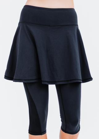 """Flowy Lycra Sport Skirt With Attached 17"""" Leggings"""