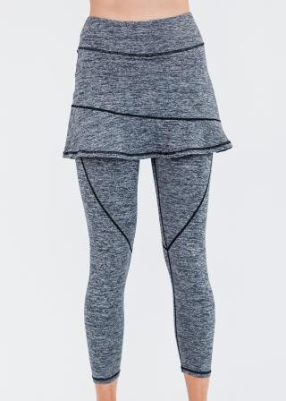 """A-line Lycra Short Sport Skirt With Attached 27"""" Leggings"""