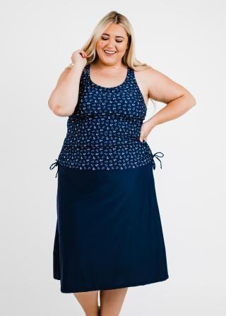 Plus Size Maya Swim Top With Long Swim Skort
