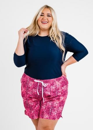 """Plus Size Margaux Swim Top With 7"""" Board Shorts"""