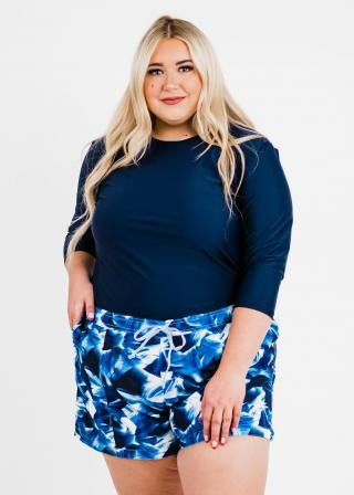 """Plus Size Margaux Swim Top With 2""""-3"""" Board Shorts"""