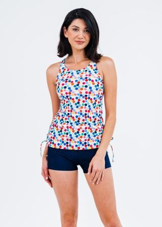 Maya Swim Top With Removable Cups With Swim Shorts