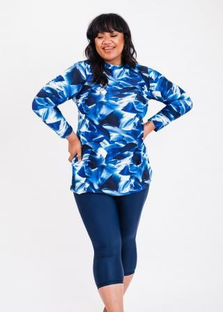 Plus Size Jenna Swim Tunic With Capri Swim Leggings