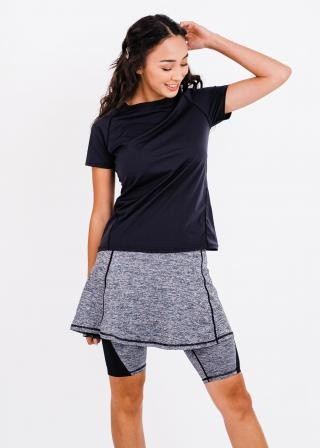 """Pro Performance Top With Midi Lycra Sport Skirt With Attached 10"""" Leggings"""