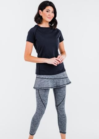 """Pro Performance Top With A-line Lycra® Short Sport Skirt With Attached 27"""" Leggings"""