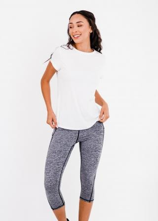 """Pro Pleated Back Performance Top With 17"""" Lycra Capri Leggings"""