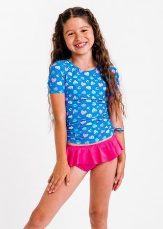 Girl's Lily Swim Top With Ruffled Bikini Bottom