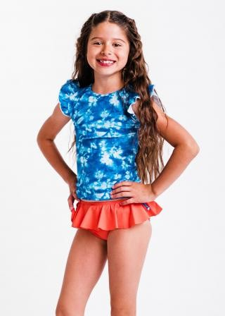 Girl's Chloe Swim Top With Ruffled Bikini Bottom